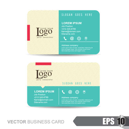 id card: business card template,Vector illustration Illustration