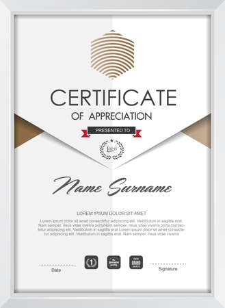 awards: certificate template with clean and modern pattern,Vector illustration