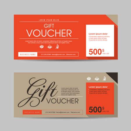 Gift voucher sjabloon met kleurrijke patroon, vectorillustratie Stock Illustratie