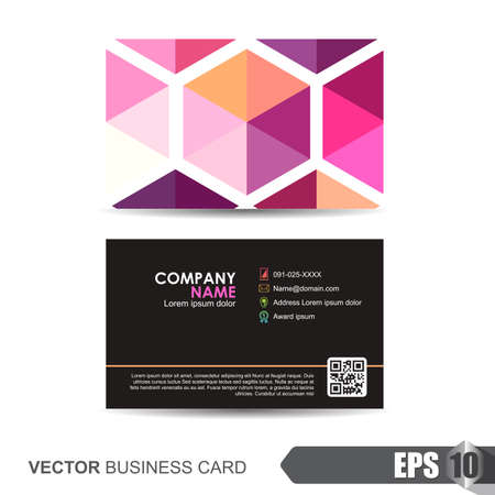 identification card: business card template,Vector illustration Illustration