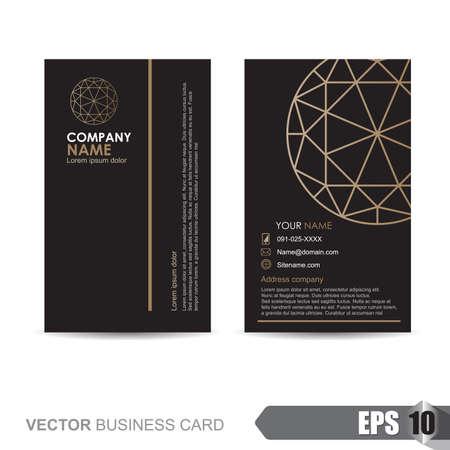 Plantilla de tarjeta de visita, ilustración vectorial Foto de archivo - 46179893