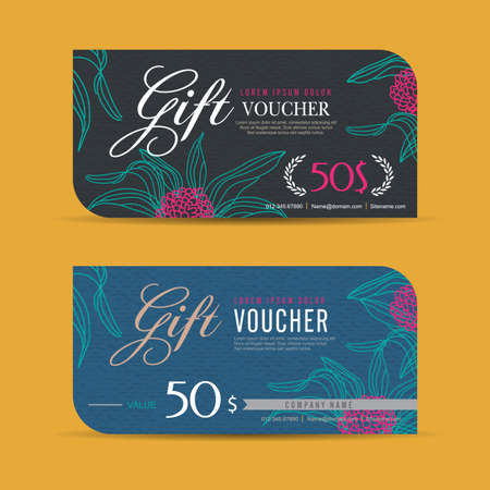 to present: Gift voucher template with colorful pattern,Vector illustration