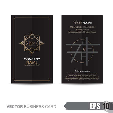 the information card: business card template,Vector illustration Illustration