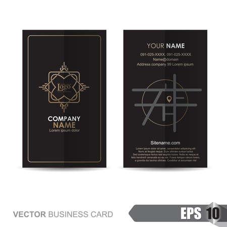 smart card: business card template,Vector illustration Illustration