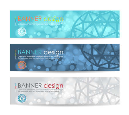 web design banner: Vector illustration,A set of modern vector banners with polygonal background,vector background