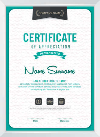certificates: certificate template with clean and modern pattern,Vector illustration