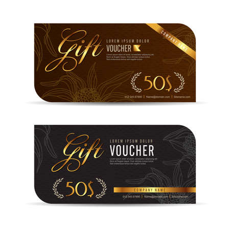Gift voucher template with premium pattern,Vector illustration