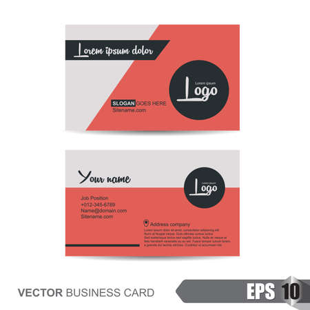 business card template,Vector illustration Stock Illustratie