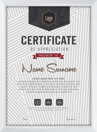 designs: certificate template with clean and modern pattern,Vector illustration