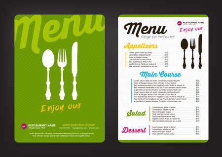 Plantilla de diseño de menú con el patrón de colores, Restaurante menú de cafetería, diseño de la plantilla, volante de Alimentos Ilustración de vector