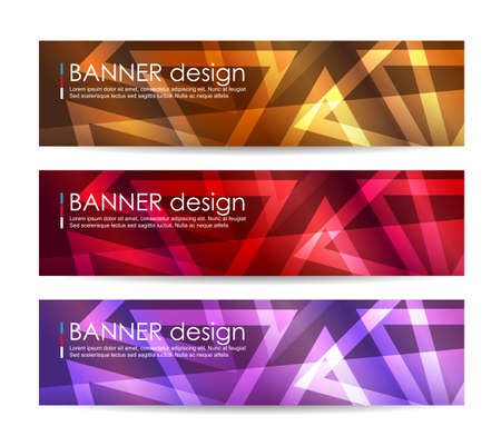 Vector illustration,A set of modern vector banners with polygonal background,vector background Stock Vector - 46180060