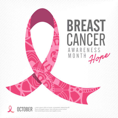 Brustkrebs-Bewusstseinsrosaband Hintergrund, Vektor-Illustration Standard-Bild - 47067435