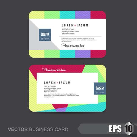 identification card: business card template,Vector illustration Illustration