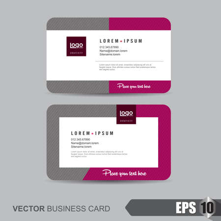 Visitenkarten Vorlage, Vektor-Illustration Standard-Bild - 47197230