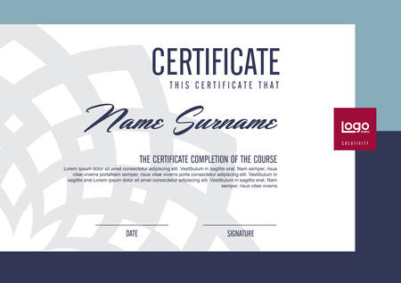 certificate design: certificate template with clean and modern pattern,Vector illustration