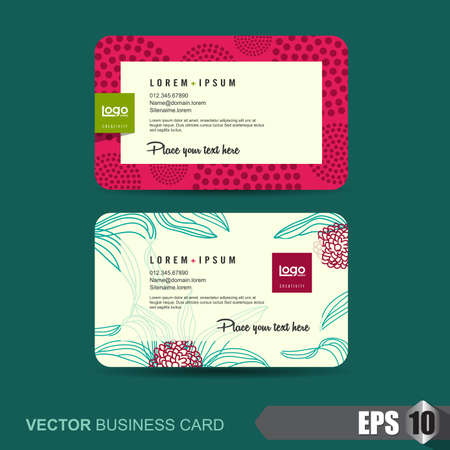 smart card: business card template,Vector illustration Illustration