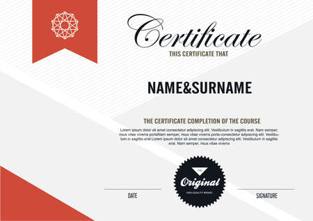 scroll background: certificate template with clean and modern pattern,Vector illustration