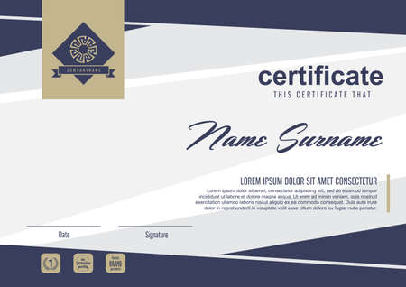 stock illustration: certificate template with clean and modern pattern,Vector illustration