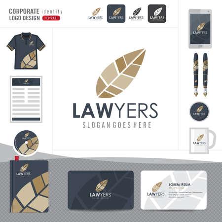 à   law: Logotipo de la Ley, bufete de abogados, asesoría jurídica, Logotipo Ley Modelo de la identidad corporativa, identidad corporativa, vector ilustrador Vectores