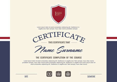 luxury template: certificate template with clean and modern pattern,Vector illustration