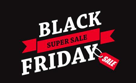 Black Friday sale inscription design template. Black Friday banner. Vector illustration