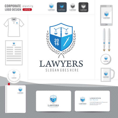 lawyer: Law logo,law firm,law office,law Logotype corporate identity template,Corporate identity,vector illustrator