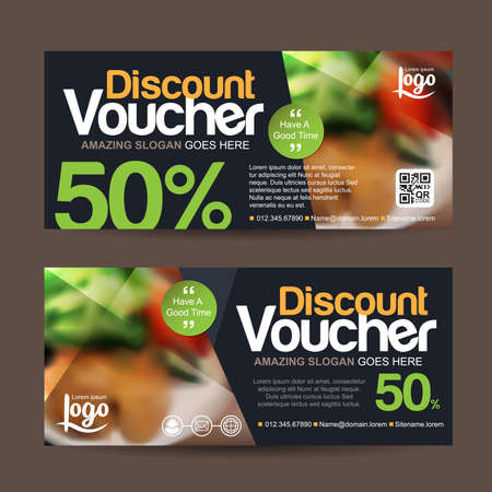 discount voucher template with clean and modern pattern and You can put pictures related businesses.Vector illustration 向量圖像