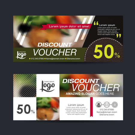 discount banner: discount voucher template with clean and modern pattern and You can put pictures related businesses.Vector illustration Illustration