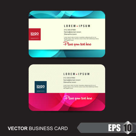 graphics card: business card template,Vector illustration Illustration
