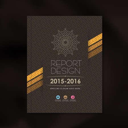 profil: Nowoczesne wektora szablon z projektowaniem luksusowych wzór tła dla korporacyjnych raport roczny okładka broszury ulotki plakatu, ilustracji wektorowych Ilustracja