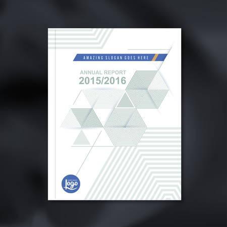 モダンな抽象六角キューブ パターン背景デザイン企業アニュアル レポート本カバー パンフレット チラシ ポスター、ベクトル図のベクトル デザイン テンプレート 写真素材 - 49870341