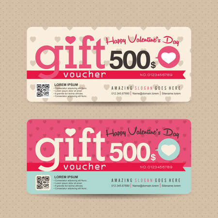 discount card: Gift voucher template with colorful pattern,Vector illustration