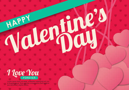 valentino: Happy Valentines day card ,vector background