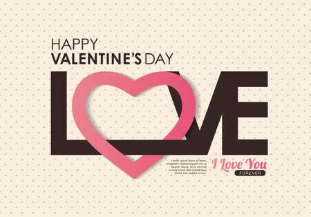 saint valentin coeur: Valentines heureux carte de jour, vecteur, fond Illustration
