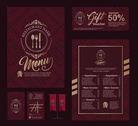 Big set of restaurant and cafe menu design,voucher,business card,flag table,Restaurant cafe menu, template design, Food flyer