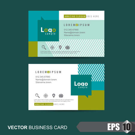 layout template: business card template,Vector illustration Illustration