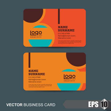 modern illustration: business card template,Vector illustration Illustration