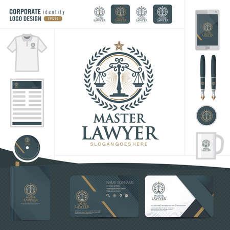 Wet logo, advocatenkantoor, wet bureau, wet Logotype corporate identity template, corporate identity, vector illustrator