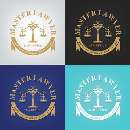 firme: logotipo de la ley, bufete de abogados, asesoría jurídica, ilustrador vectorial