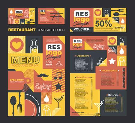 cafe menu: Big set of restaurant and cafe menu design,voucher,business card,Restaurant cafe menu, template design, Food flyer