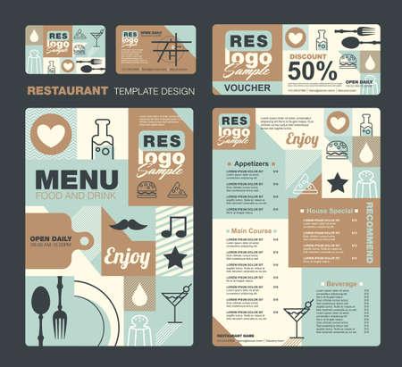 Big set of restaurant and cafe menu design,voucher,business card,Restaurant cafe menu, template design, Food flyer