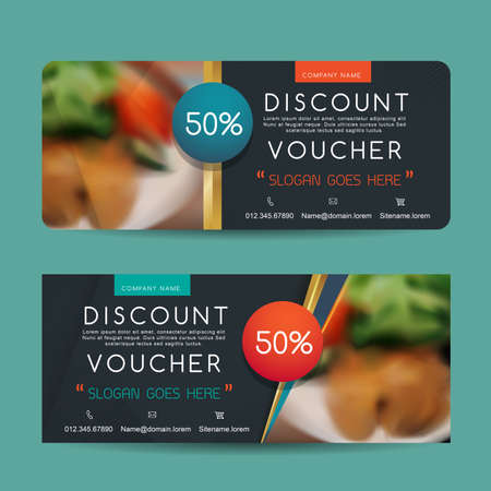 discount coupon: Gift Voucher template Illustration