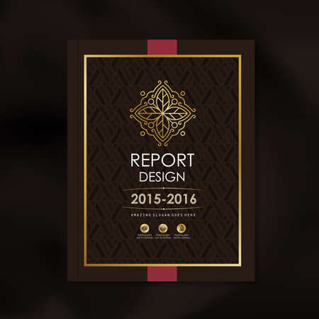 Modern Vector design template with luxury golden shape pattern background design for corporate business annual report book cover brochure poster,vector illustration
