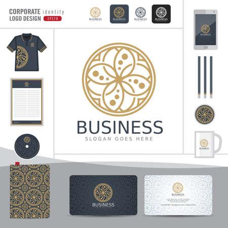Abstract monogram elegant logo design,Abstract Logotype corporate identity template,Corporate identity,Abstract emblem,hotel,restaurant,vector illustrator Logo