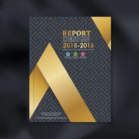 annual report: Modern Vector design template with luxury pattern background design for corporate business annual report book cover brochure flyer poster,vector illustration Illustration