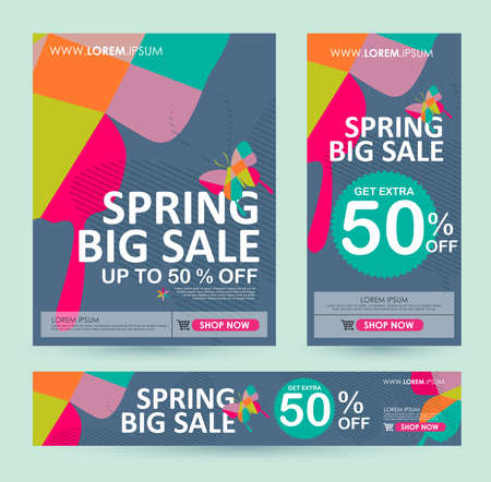 sale banners poster tag design. Vector illustration Illustration