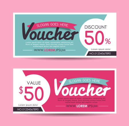 Gift Voucher template Illustration