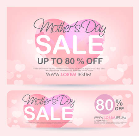 mothers day Sale Banner poster tag design. Vector illustration
