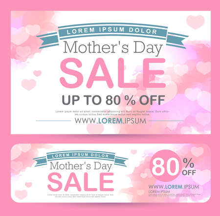 mother's day Sale Banner poster tag design. Vector illustration