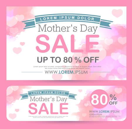 mothers day Sale Banner poster tag design. Vector illustration